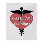 Nurses Call The Shots Throw Blanket