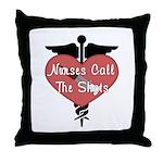 Nurses Call The Shots Throw Pillow