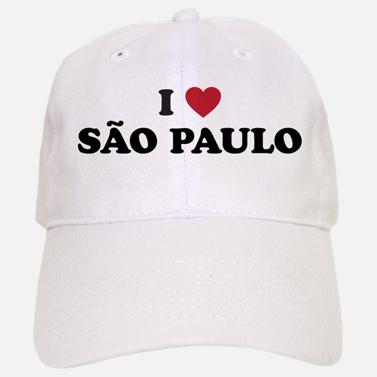 I Love Sao Paulo Baseball Baseball Cap
