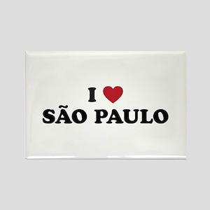 I Love Sao Paulo Rectangle Magnet
