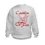 Caitlin On Fire Kids Sweatshirt