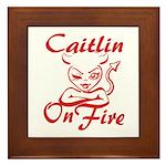 Caitlin On Fire Framed Tile
