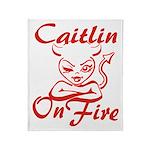 Caitlin On Fire Throw Blanket