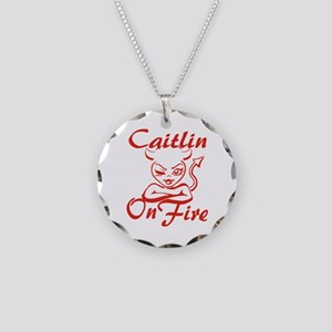 Caitlin On Fire Necklace Circle Charm