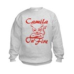 Camila On Fire Kids Sweatshirt