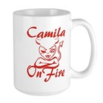 Camila On Fire Large Mug