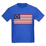 Betsy Ross Flag Kids Dark T-Shirt