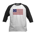 Betsy Ross Flag Kids Baseball Jersey