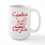 Candice On Fire Large Mug