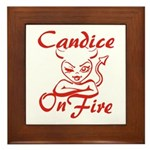 Candice On Fire Framed Tile