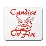 Candice On Fire Mousepad