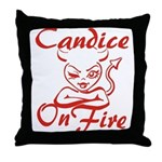 Candice On Fire Throw Pillow