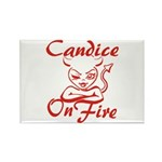 Candice On Fire Rectangle Magnet