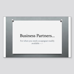 Business Partners Sticker (Rectangle)