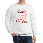Carla On Fire Sweatshirt