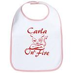 Carla On Fire Bib