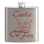 Carla On Fire Flask