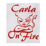 Carla On Fire Throw Blanket