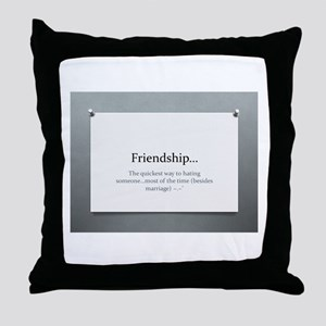 The Power of Friendship Throw Pillow