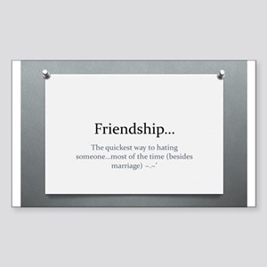 The Power of Friendship Sticker (Rectangle)