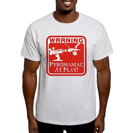 Pyromaniac At Play Ash Grey T-Shirt