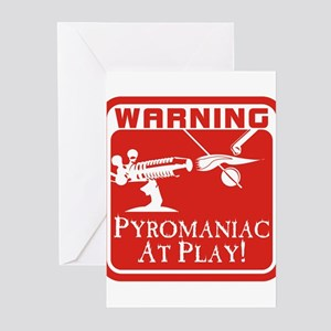 Pyromaniac At Play Greeting Cards (Pk of 10)