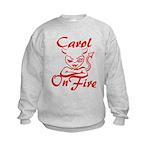 Carol On Fire Kids Sweatshirt