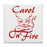 Carol On Fire Tile Coaster