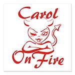 Carol On Fire Square Car Magnet 3
