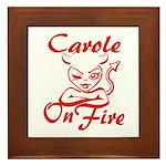 Carole On Fire Framed Tile