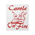 Carole On Fire Throw Blanket