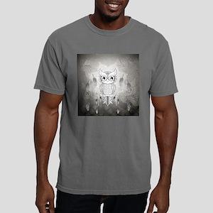 Cuet owl in black and white, mandala design Mens C