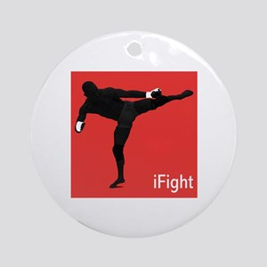 iFight (red) Ornament (Round)