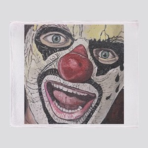 Gothic Clown Throw Blanket