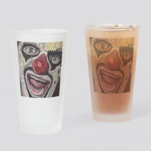 Gothic Clown Drinking Glass