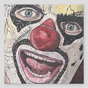"Gothic Clown Square Car Magnet 3"" x 3"""