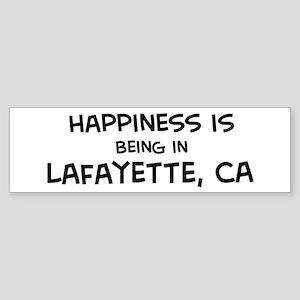 Lafayette - Happiness Bumper Sticker