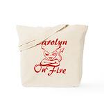 Carolyn On Fire Tote Bag