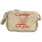Carolyn On Fire Messenger Bag