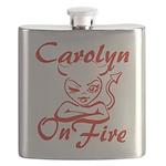 Carolyn On Fire Flask
