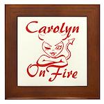 Carolyn On Fire Framed Tile