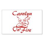 Carolyn On Fire Sticker (Rectangle)