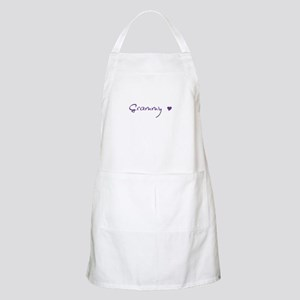Grammy Purple With Heart Apron
