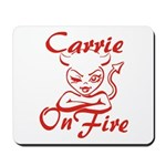 Carrie On Fire Mousepad