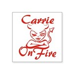 Carrie On Fire Square Sticker 3