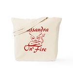 Cassandra On Fire Tote Bag