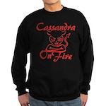 Cassandra On Fire Sweatshirt (dark)