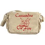 Cassandra On Fire Messenger Bag