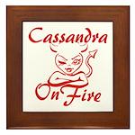 Cassandra On Fire Framed Tile