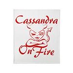 Cassandra On Fire Throw Blanket